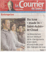 article courrier de l'ouest couverture 1